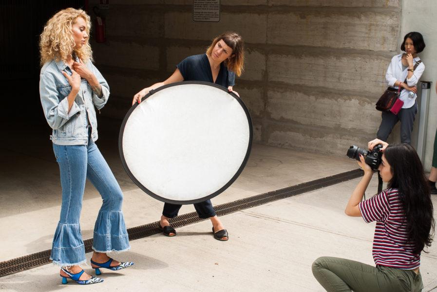 Backstage fotografia di moda